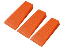 Forestry felling wedges (3) 140 mm from ABS plastic
