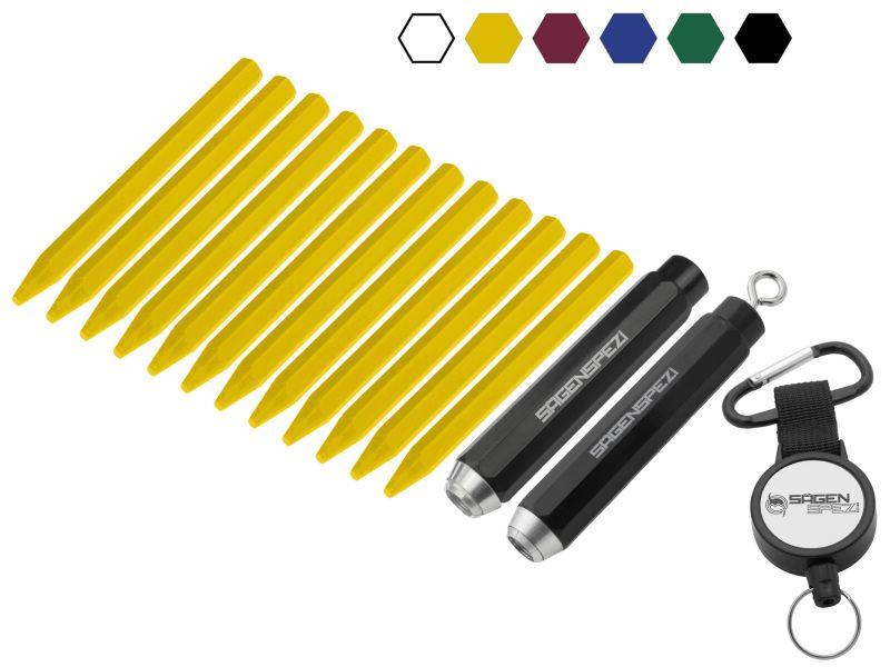 Signierkreide 11 x 110 mm 12 Stück u. o. Kreidehalter für 11 mm bis Ř 12 mm