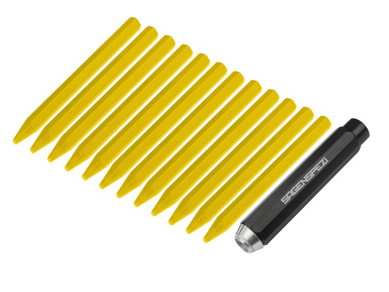 Halter + Kreide 12 Stück gelb