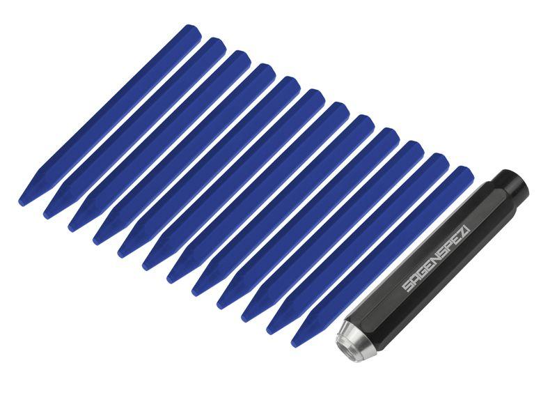 Halter + Kreide 12 Stück blau