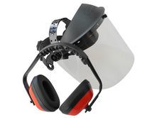 face shield protection Pro (polycarbonate) with earmuffs