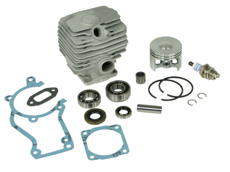 Cylinder kit fits Stihl 028 AV Super 46mm including gasket kit, spark plug,  crankshaft bearings and piston needle cage