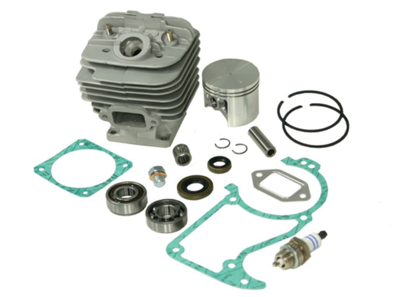 Cylinder kit fits Stihl 034 AV Super MS340 48mm including gasket kit, spark  plug, crankshaft bearings and piston needle cage