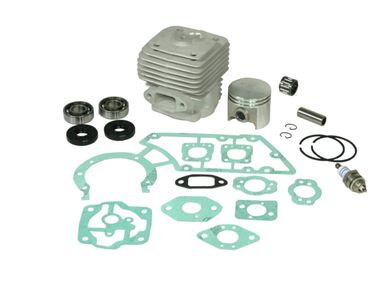 Cylinder kit fits Stihl TS 360 TS360 49mm including gasket kit, spark plug, crankshaft bearings and piston needle cage