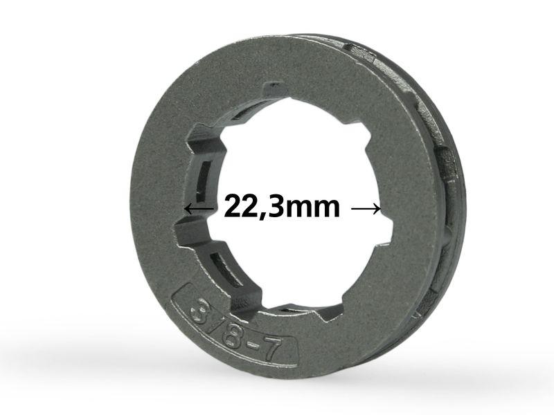 "Ringrad 3//8/"" 7Z passend für Stihl MS362 MS 362 22,3mm rim sprocket"